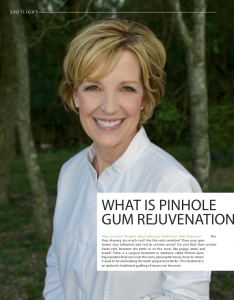 Article written by Rockwall dentist Dr. Karen E. Williamson discussing receding gums treatment.