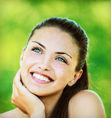 Aesthetic dentistry patient from Heath TX shows off her new smile.